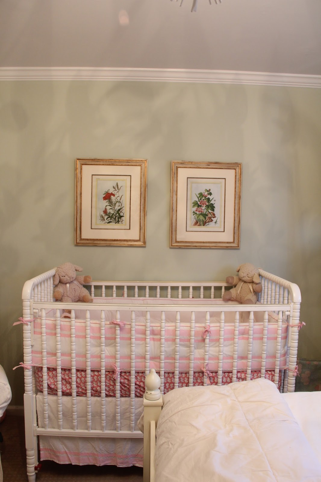 Baby cribs on craigslist - Jenny Lind Crib Off Craigslist Pottery Barn Bumper And Skirt Roberta Roller Rabbit Crib Sheet I Have Since Removed The Bumper And Added A Pink Breathable