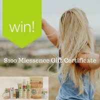Subscribe to Win! $100 Miessence Gift Certificate!