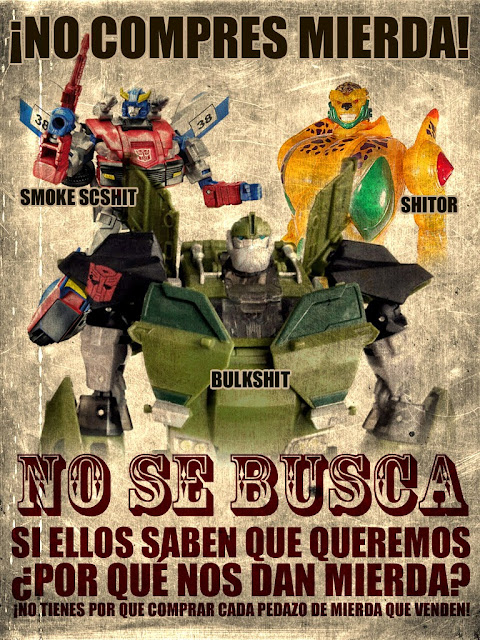 Peores Transformers, Bulkhead, Cheetor supreme, Smokescreen