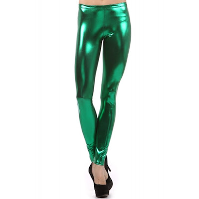 green metallic leggings saint paddys day
