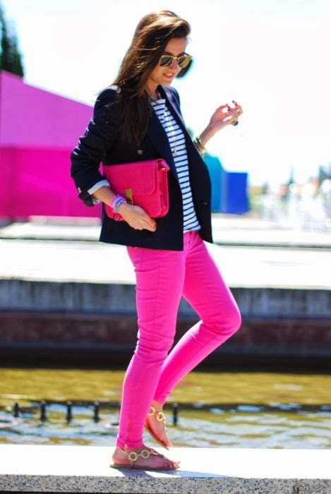 Stripes Shirt With Black Coat And Pink Pent