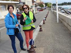Michelle Guéritey et Corinne Gaillard, les instigatrices du projet Vill'en laine en Rives de Saône