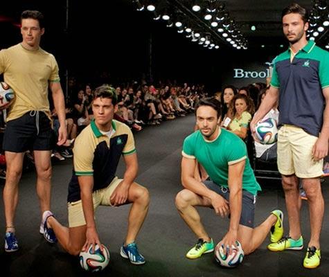 Roupas e acessorios masculinos camisetas e polos Brooksfield coleção para a Copa do Mundo 2014