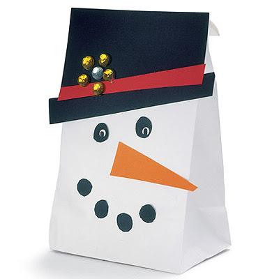 Опаковане на коледен подарък - Снежен човек