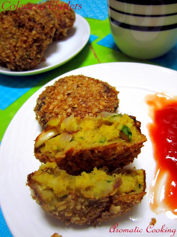 Colacasia cutlets