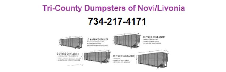 Tri County Dumpsters of Novi Livonia