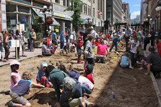 Sandbox Project in Canada for children downtown