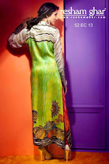 Latest Resham Ghar Digital Printed Suits 2013-2014 For Women