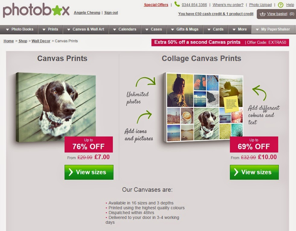 Photobox photobook, Photobox Canvas, Panasonic TZ55 pictures printed