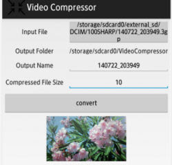 compressione video android