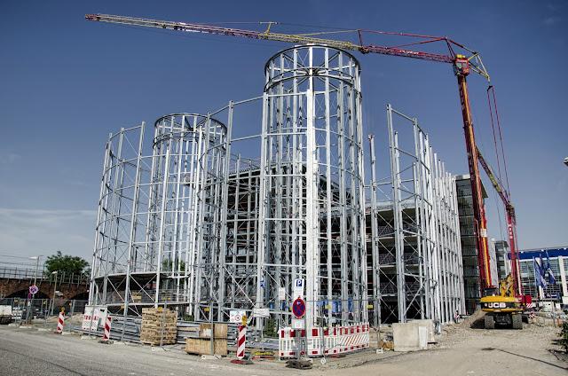 Baustelle Parkhaus o2 World, Valeska-Gert-Straße, 10243 Berlin, 18.06.2013