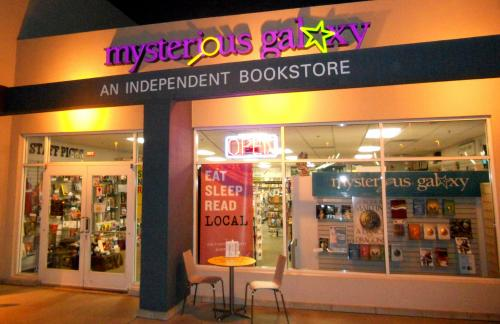 Mysterious Galaxy Bookstore 7051 Clairemont Mesa Blvd. Suite #302. San Diego ...