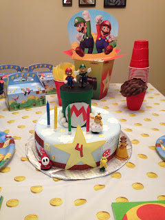 birthday cake mario boy party