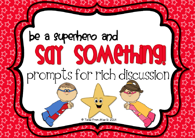 http://www.teacherspayteachers.com/Product/Say-Something-Comprehension-Strategy-Pack-1236615