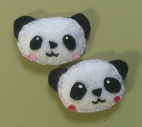 Broche fieltro os@ panda