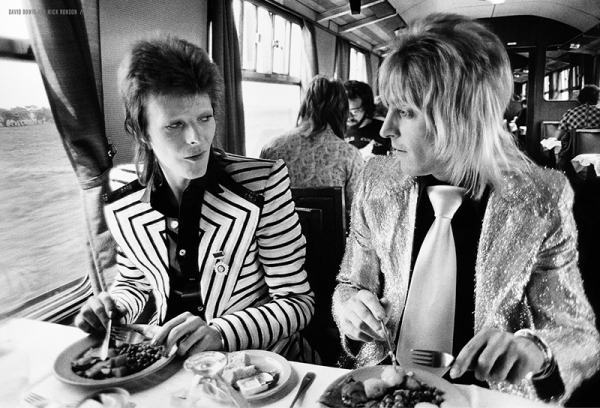 David Bowie & Mick Ronson photographié par Mick Rock