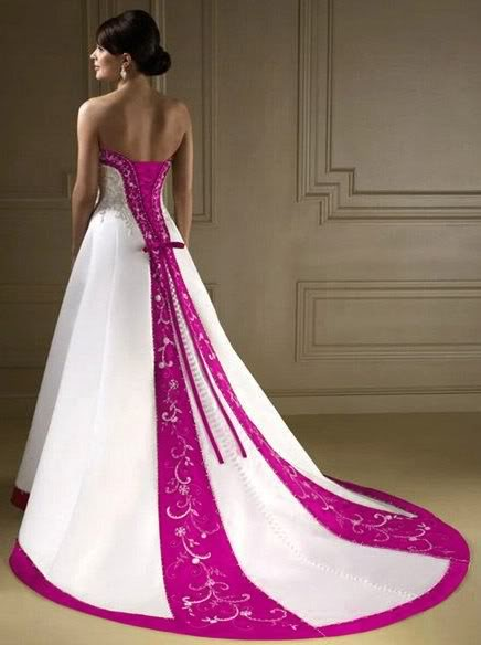Wedding Dresses With Little Color : Wedding dress with color light