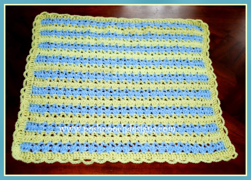 Crochet Pattern For Dog Blanket : Posh Pooch Designs Dog Clothes: Sweet Baby Blanket Crochet ...