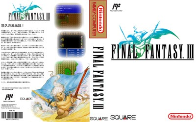 Game Case World Final Fantasy III For The NES In English