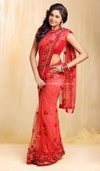 Arundhathi in Red Saree Cute Photos