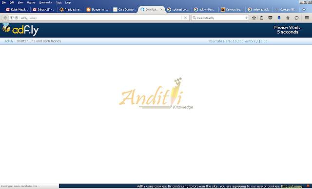 Cara Melewati Situs Adf.ly-anditii.web.id