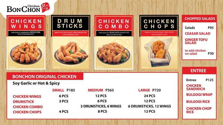 Great food around bonchon in the philippines for Kitchen 88 food truck utah menu