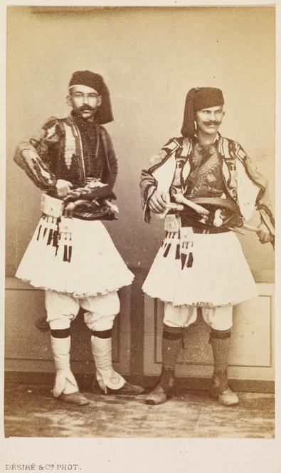 Albanais au service de la policie du Caire (1860)
