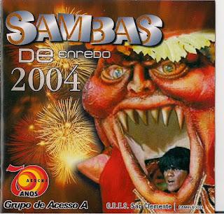 foto da capa do cd sambas de enredo 2004 grupo de acesso