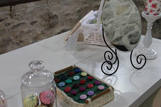 Muestra de componentes en el museo de las artesanis de mogarraz