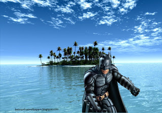 Desktop Wallpapers Batman Dark Knight Posing Fighting Position in Paradise Island wallpaper