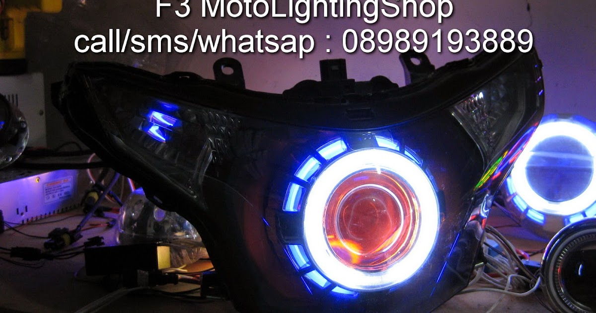 F3MotoLightingShop Projector Double Angel Eyes Hid Untuk