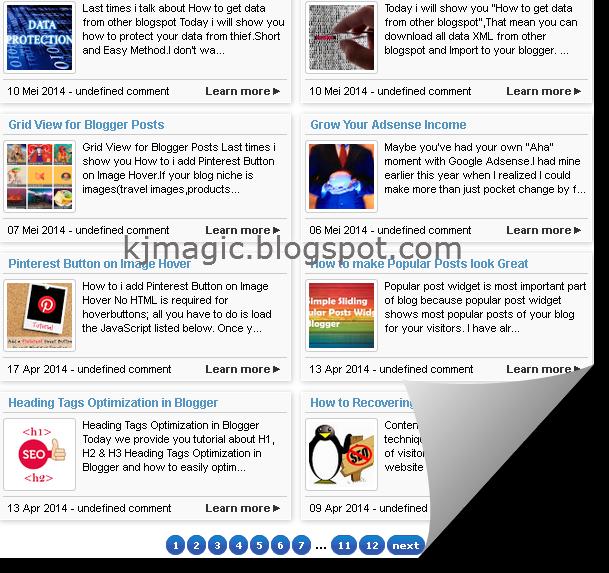 Sitemap 2 cột có phân trang cho blog