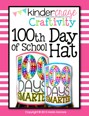 Cute hat for the 100th Day of School, $2.50