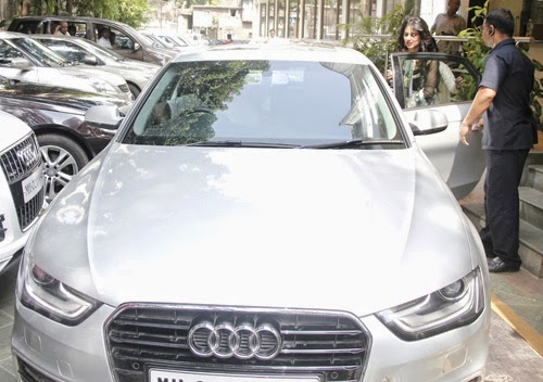 TV Actress Hina Khan with Her Audi A4 Car Photos and Stills