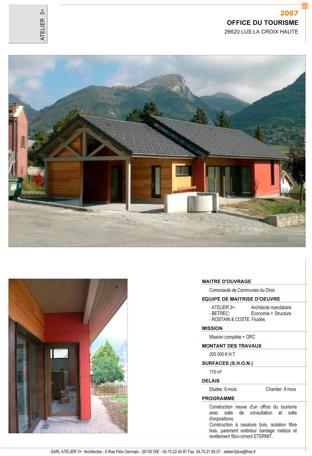 Atelier 3 architectes construction d 39 un office du - Office du tourisme de la croix valmer ...