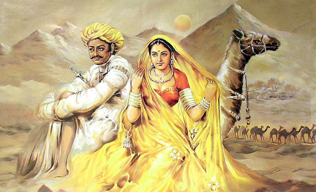 Rajasthani Girls Art Paintings 33