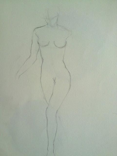desnudo femenino frente
