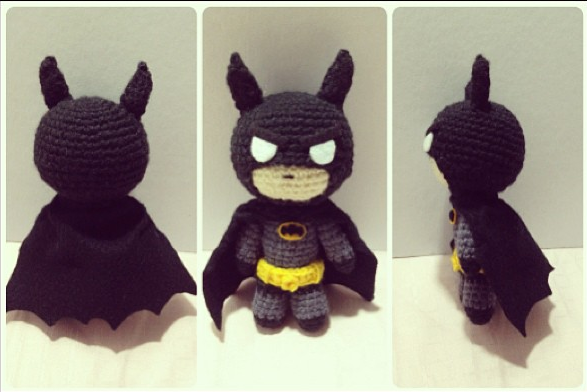 Free Amigurumi Batman Pattern : DOUBLEOXM: First ever crochet pattern for a DC character!