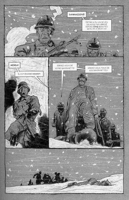 """Paginas del cómic """"La Muerte Blanca"""""""