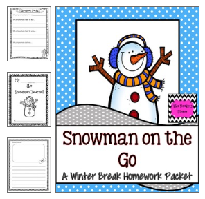http://www.teacherspayteachers.com/Product/Winter-Break-Homework-Packet-Snowman-on-the-Go-402403
