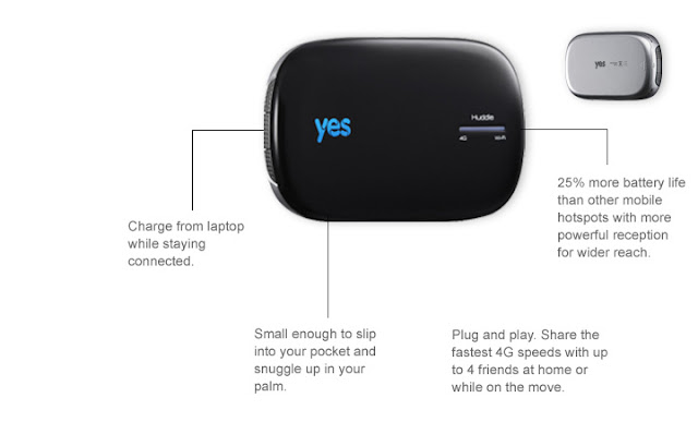 yes imba yes huddle 4g mobile hotspot. Black Bedroom Furniture Sets. Home Design Ideas