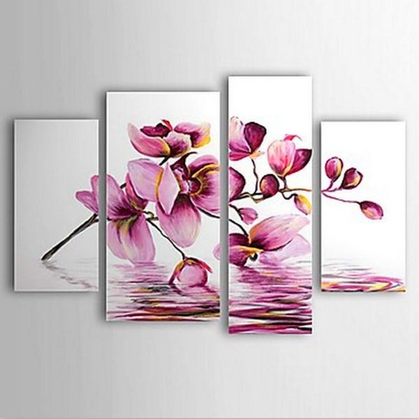 Cuadros modernos pinturas y dibujos flores grandes al leo for Cuadros alegres para salon