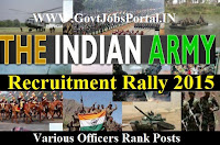 INDIAN ARMY RALLY RECRUITMENT 2015
