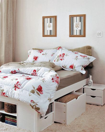 Minha Casa Perfeita Uma cama nova e uma linda  ~ Quarto Pequeno Jovem