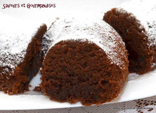 Gâteau au Chocolat sans Lactose.