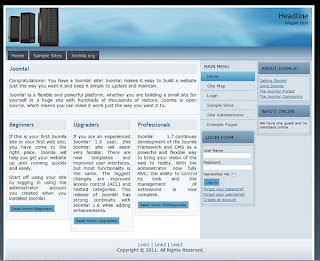joomla 1.7 template for web hosting website