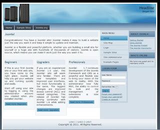 joomla 1.7 template for web hosting website