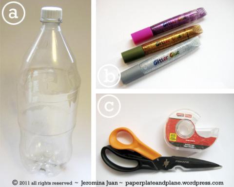 Lista de Materiais - Coroa de Cristal com Garrafa PET