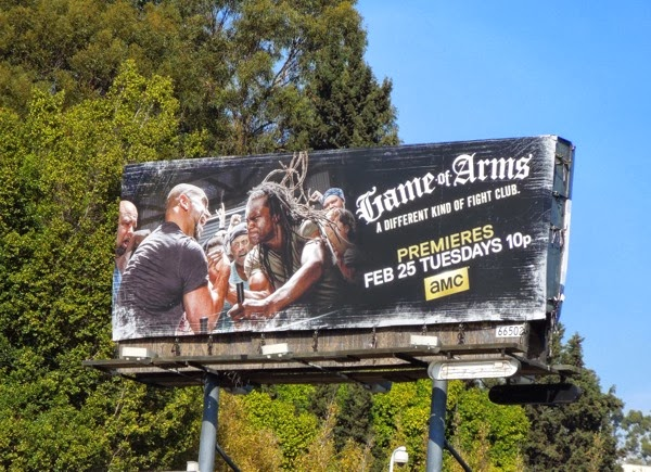 Game of Arms series premiere billboard
