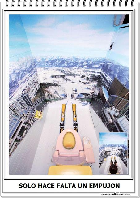esquiador en wc